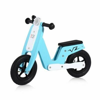 Baby Vivo 10 Zoll Kinderlaufrad / Laufrad aus Holz mit Klingel - Capri blau