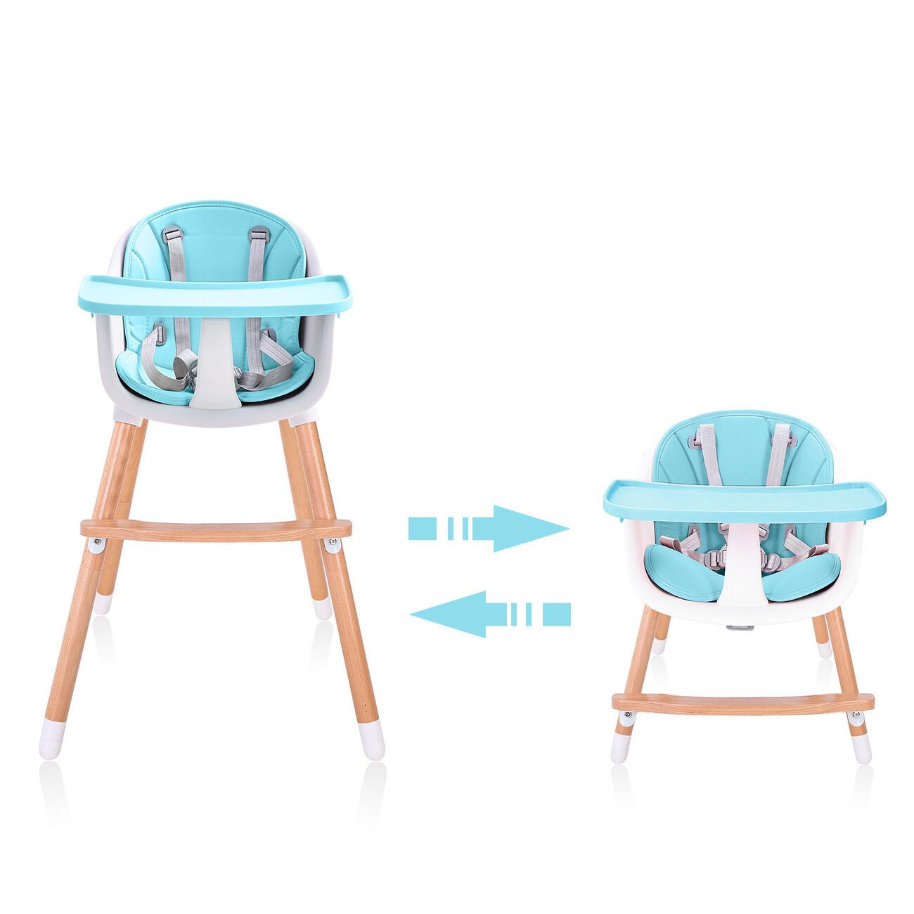Baby Vivo Design 2in1 Kinderhochstuhl - Lani in Türkis
