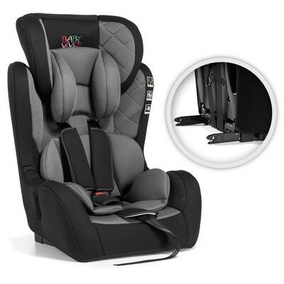 Baby Vivo Kindersitz / Autositz mit ISOFIX BEN von 9-36 kg für Gruppe 1+2+3 in Schwarz/Grau