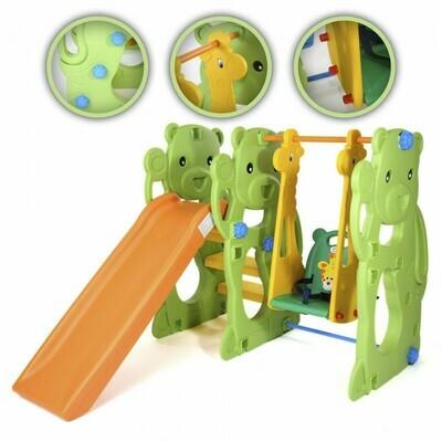 Baby Vivo Spielplatzschaukel / Spielgerüst mit Rutsche für Indoor Outdoor - Jungle