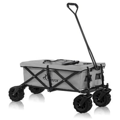 SAMAX Faltbarer Bollerwagen mit Kühltasche Offroad Cool - Grau