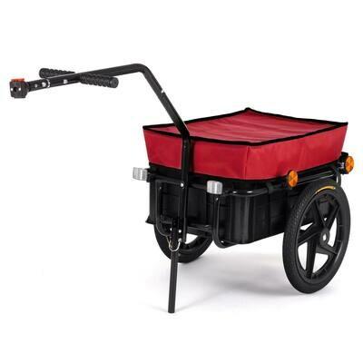 SAMAX Lastenanhänger / Fahrradanhänger für 60 Kg / 70 Liter in Rot