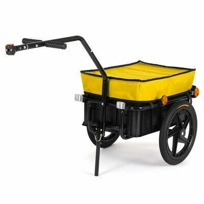 SAMAX Lastenanhänger / Fahrradanhänger für 60 Kg / 70 Liter in Gelb
