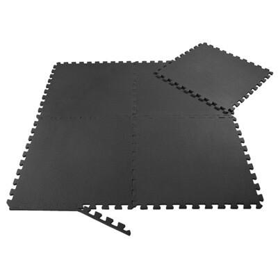 SAMAX EVA Schutzmatten Fitnessmatten Set 60x60 cm - 8 Stück in Schwarz