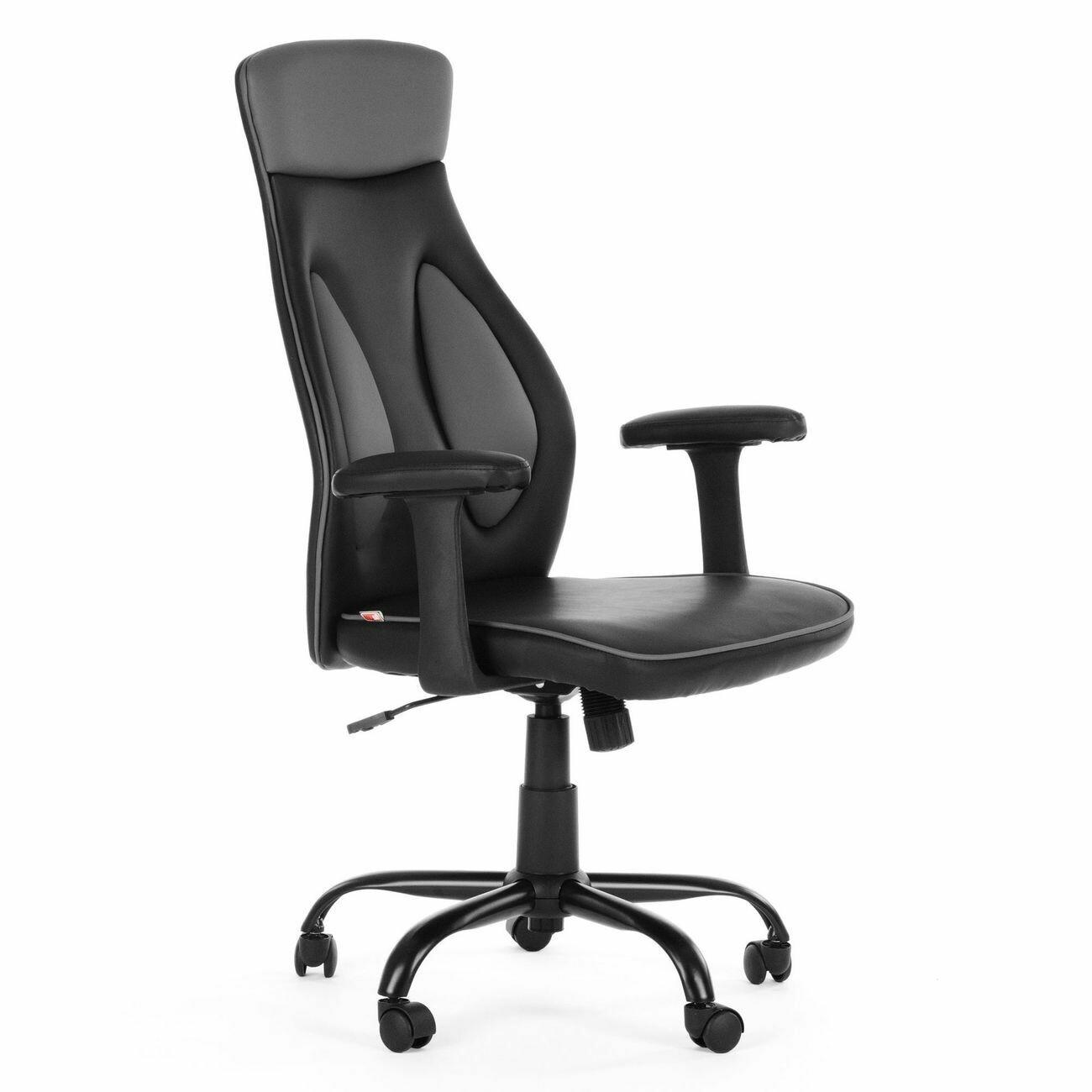 MY SIT Bürostuhl Chefsessel Samoa aus Kunstleder grau-schwarz