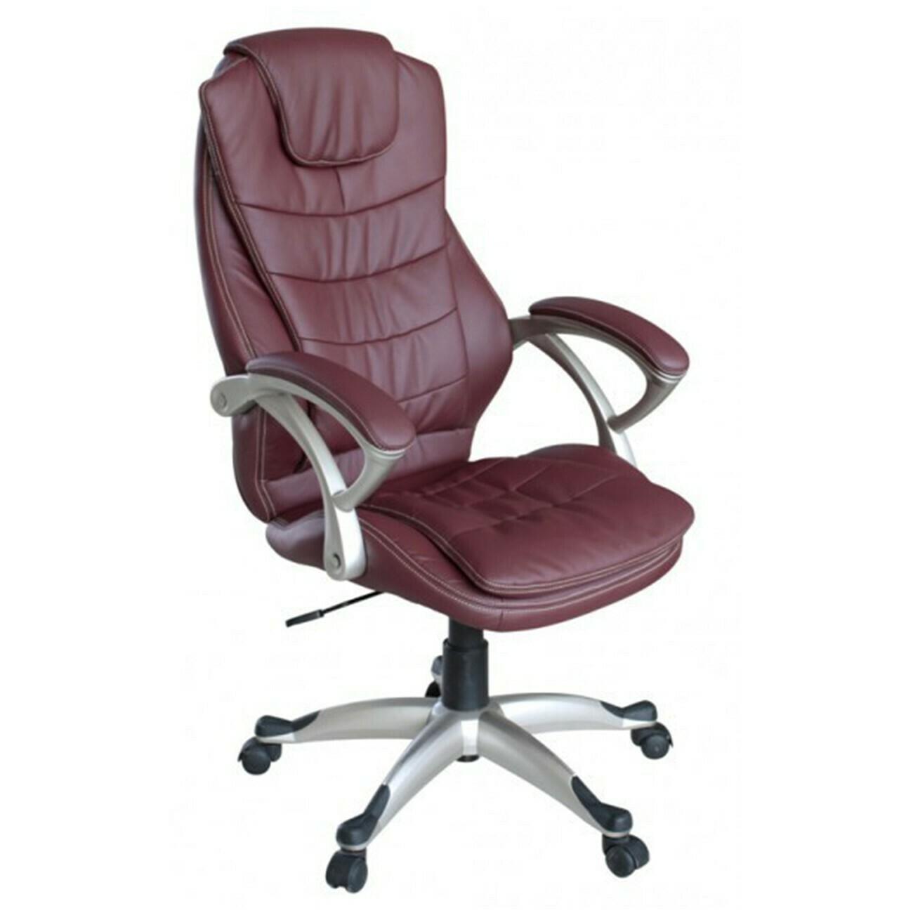 MY SIT Bürostuhl Chefsessel Chicago aus Kunstleder Deluxe Edition in Burgunder