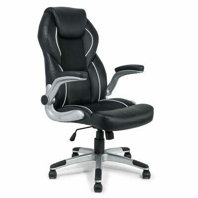 MY SIT Bürostuhl Chefsessel Montreal aus Kunstleder in Schwarz