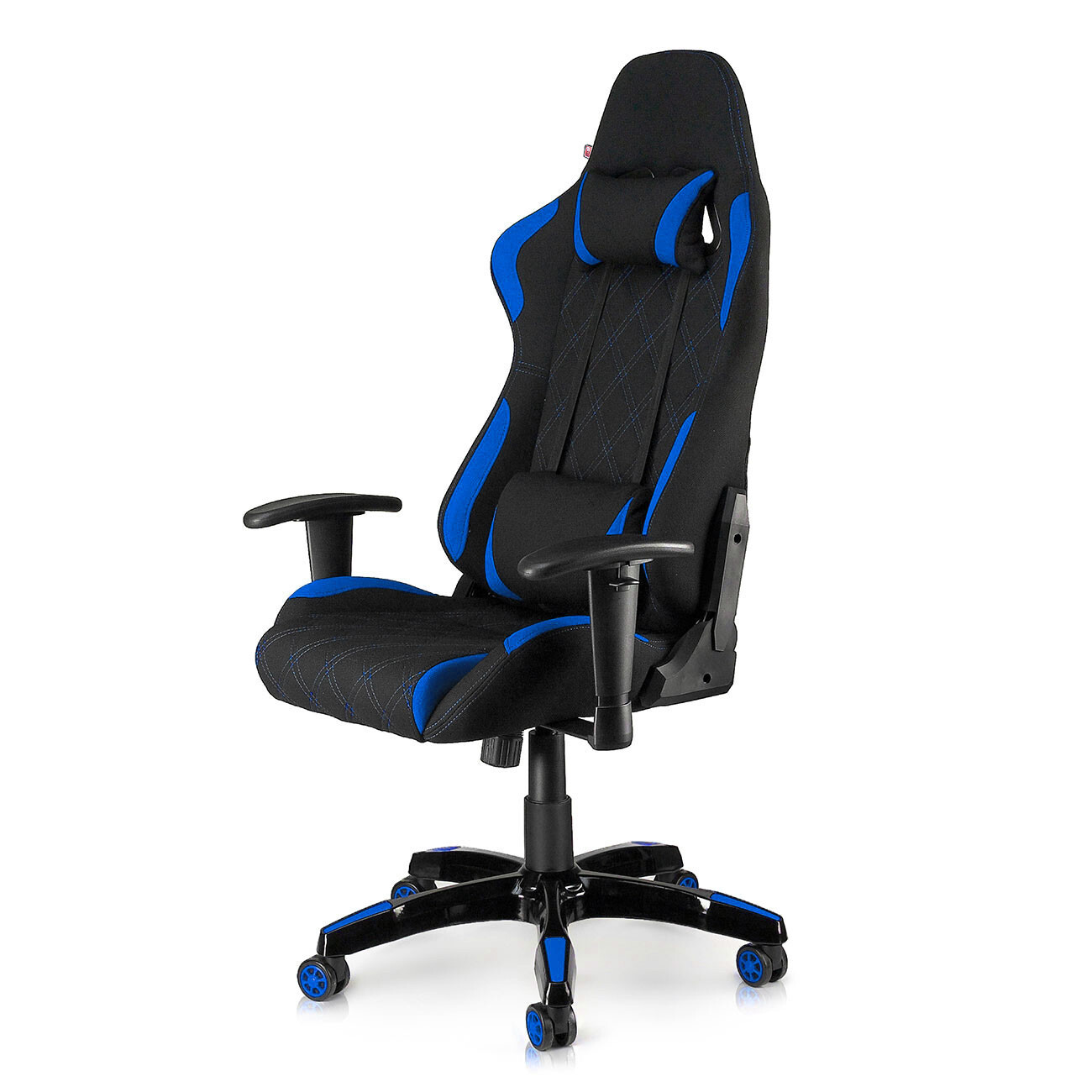 MY SIT Racing Chair Bürostuhl mit Stoff-Bezug - Blue Racer