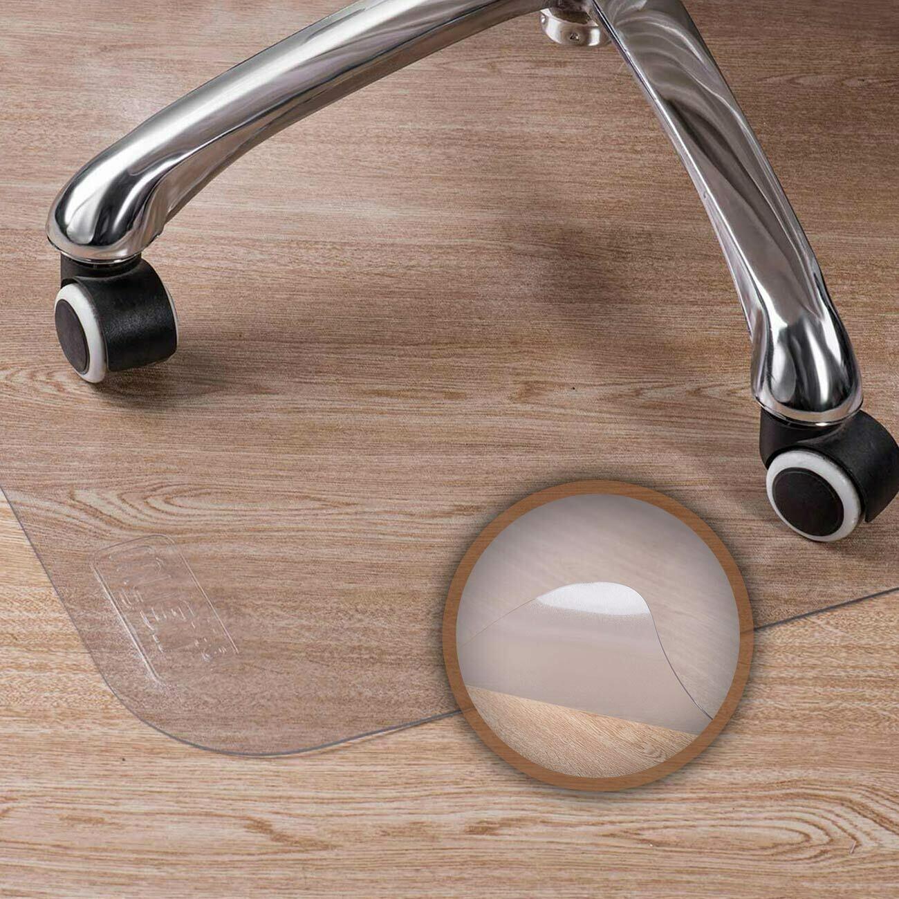 MY SIT 90 x 100 cm Bodenschutzmatte / Bürostuhlunterlage transparent für Hartböden