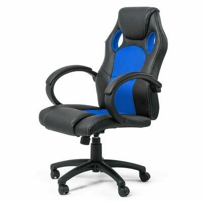 MY SIT Racing Chair Bürostuhl aus Kunstleder Silverblue