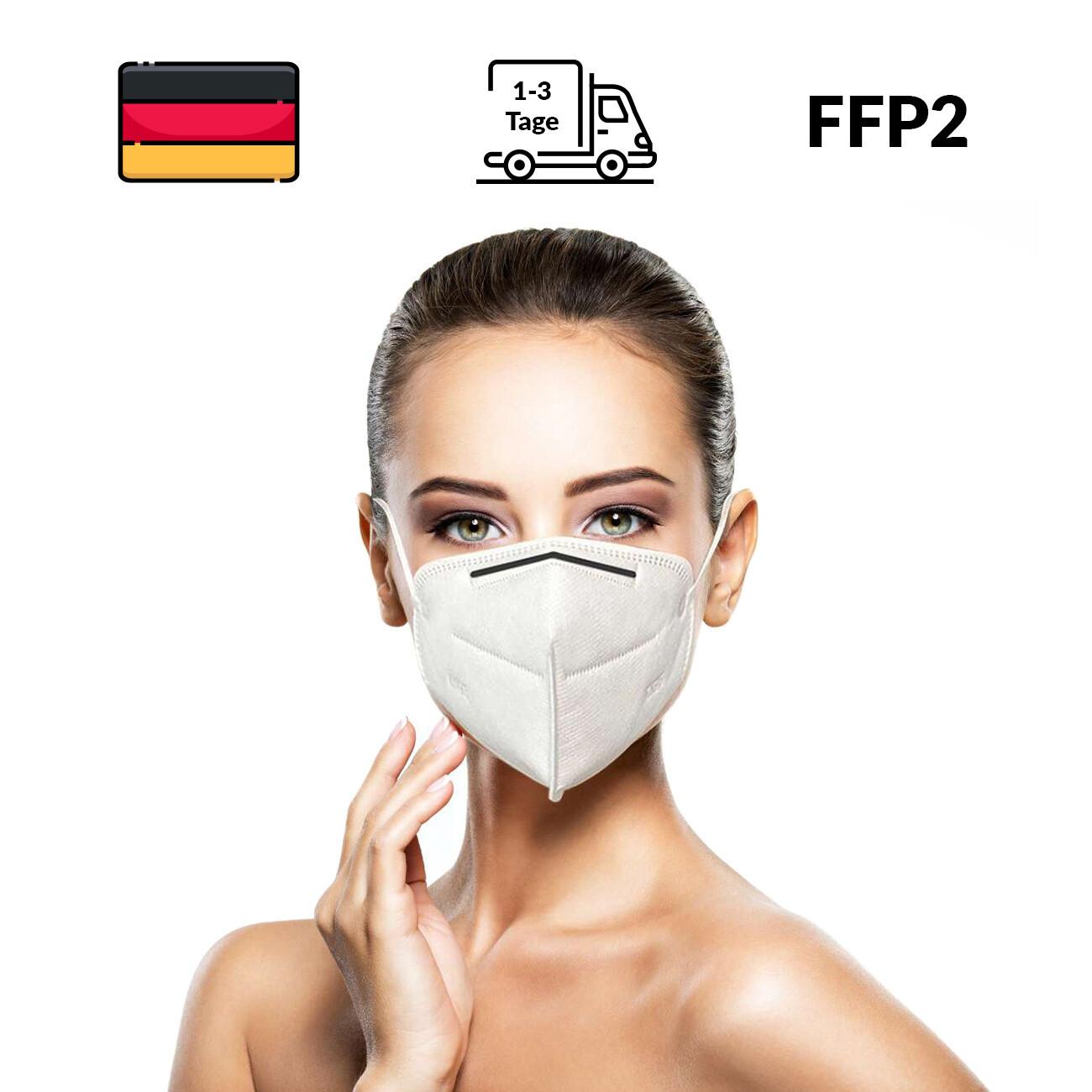 Atemschutz - KN95 Masken / FFP2 Schutzmasken - 2 Stück