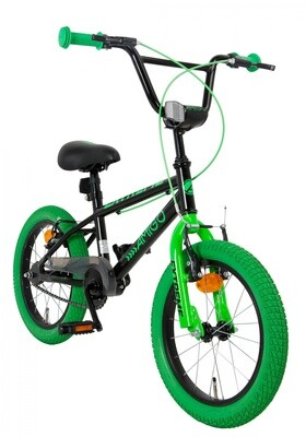 AMIGO Velo / Fahrrad BMX Extreme 16 Zoll 25,4 cm Junior Felgenbremse Grün/Schwarz