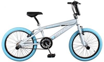 BMX Bike Fun Tornado 20 Zoll Unisex Felgenbremse Grau/Blau