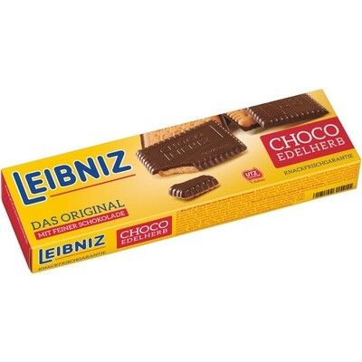 Grosspackung Bahlsen Leibniz Kekse Choco Edelherb 12 x 125 g = 1,5 kg