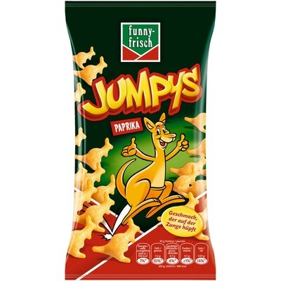 Grosspackung Funny Frisch Jumpys 20 x 75 g = 1,5 kg Chips