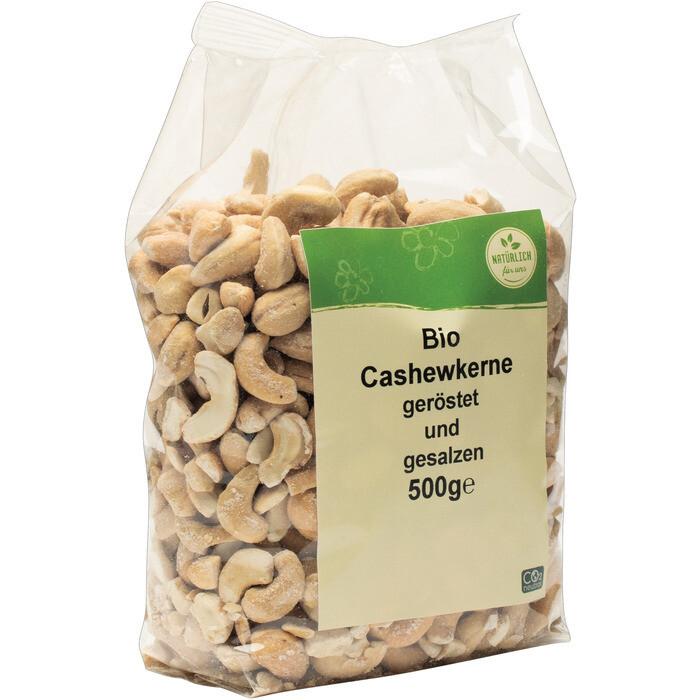 Grosspackung natürlich für uns Bio Cashewkerne geröstet gesalzen 10 x 500 g = 5 kg