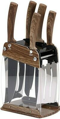 San Ignacio Küchenmesser mit Halter- Messerset