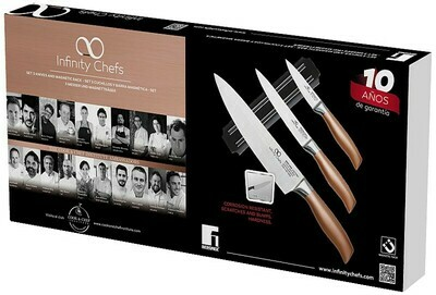 Bergner Infinity Chefs Messerset mit Magnetgestell