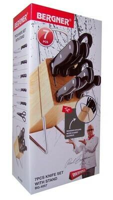 Bergner Messerblock mit 5 Messern und Schere