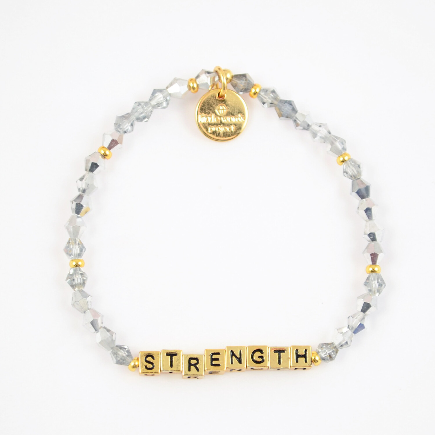 "Little Words Project Gold ""Strength"" Bracelet"