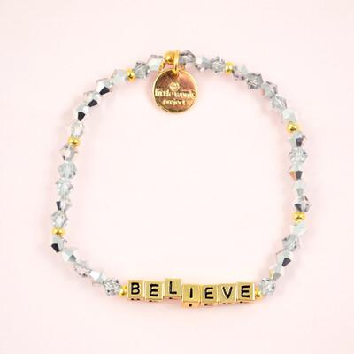 """Little Words Project Gold """"Believe"""" Bracelet"""