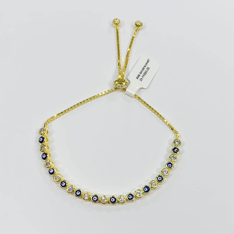 Mini Evil Eye Pull Chain Bracelet