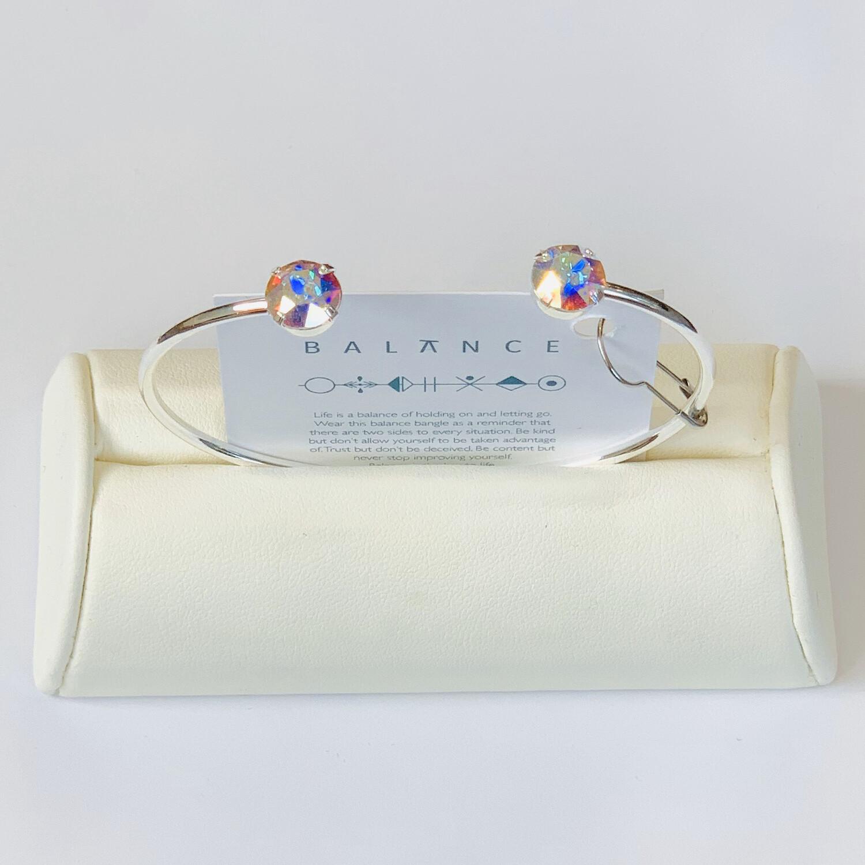 Balance Bracelet Silver/Crystal Aurora