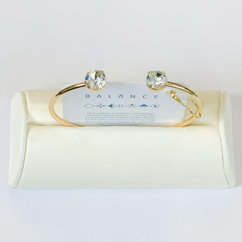 Balance Bracelet Gold/Pale Turquoise