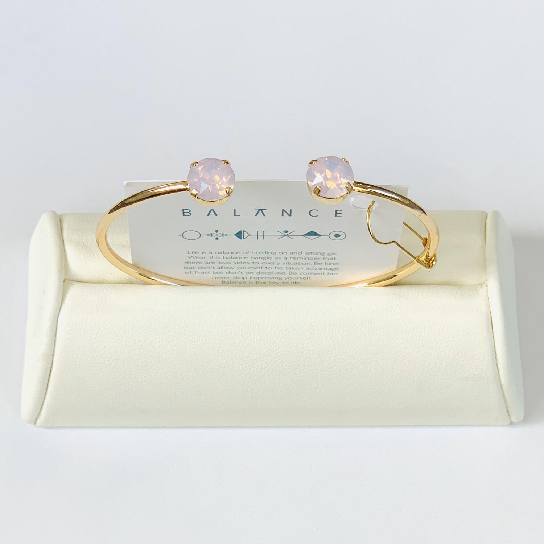 Balance Bracelet Gold/Frosted Pink