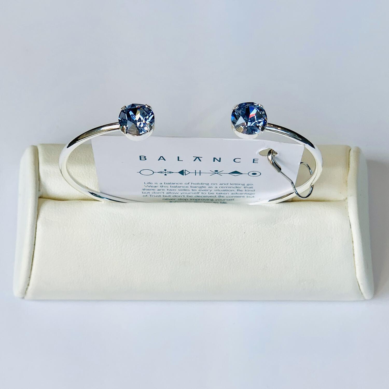 Balance Bracelet Silver/Light Sapphire