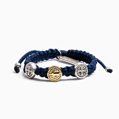 Blessing for Kids Benedictine Blessing Bracelet (Navy)