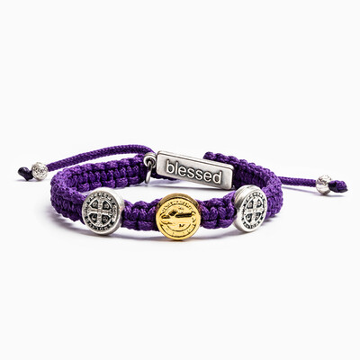 Blessing for Kids Benedictine Blessing Bracelet (Purple)