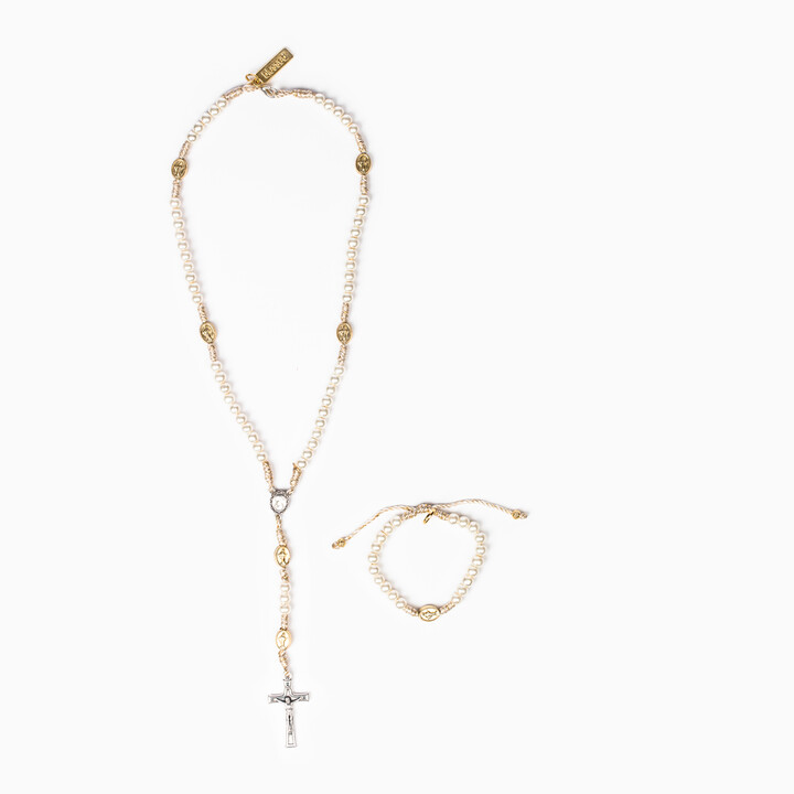 First Communion Rosary and Bracelet Set