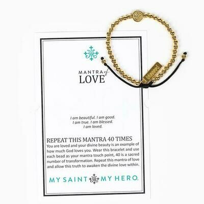 Mantra of Love Bracelet (Gold)