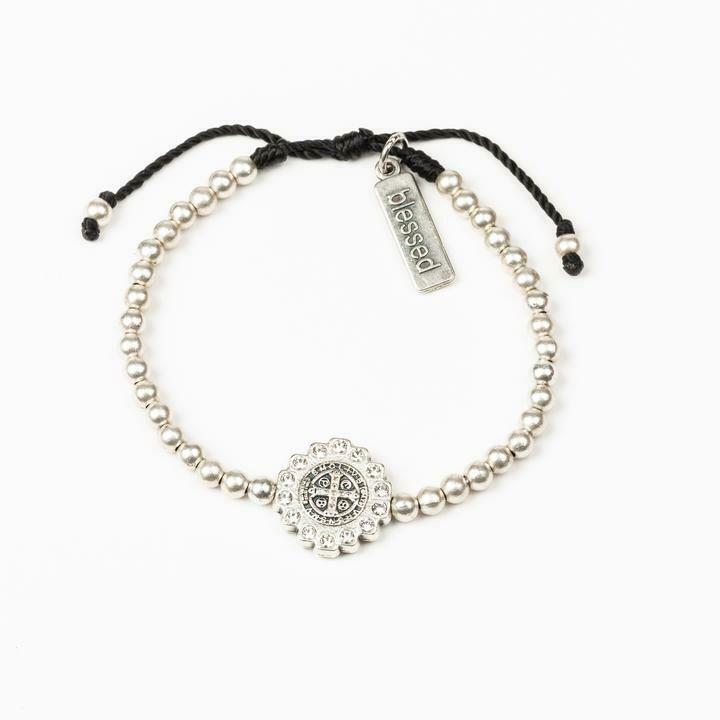 Mantra of Beauty & Brilliance Bracelet (Silver)