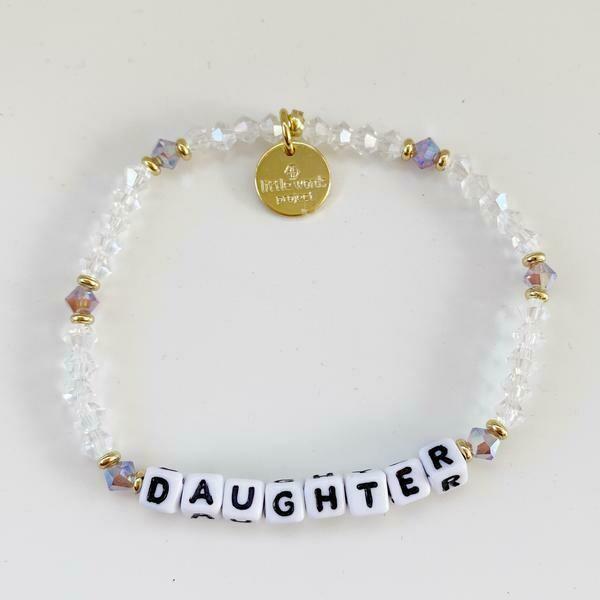 "Little Words Project White ""Daughter"" Bracelet"