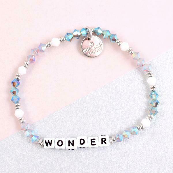 "Little Words Project White ""Wonder"" Bracelet"