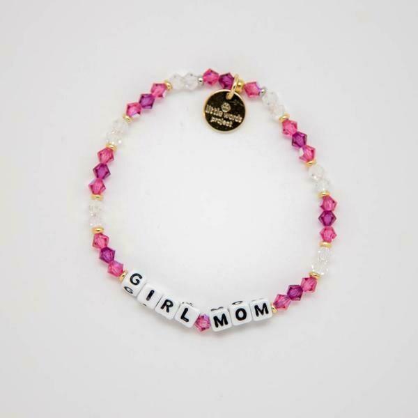 """Little Words Project White """"Girl Mom"""" Bracelet"""