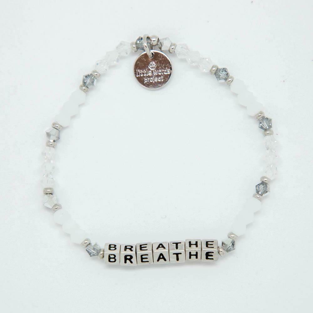 """Little Words Project Silver """"Breathe"""" Bracelet"""
