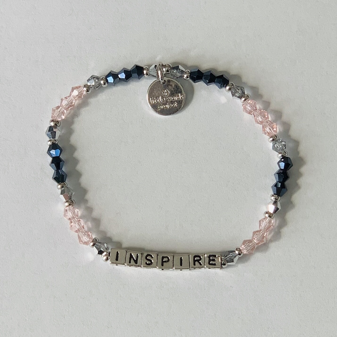 "Little Words Project Silver ""Inspire"" Bracelet"