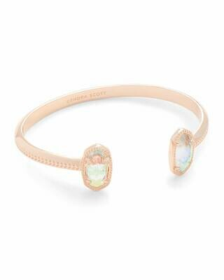 Kendra Scott Elton Rose Gold Cuff Bracelet In Dichroic Glass