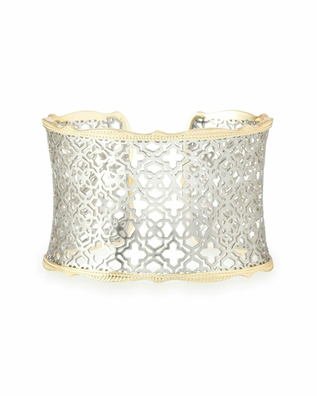 Kendra Scott Candice Cuff Bracelet In Gold/Silver Filigree Mix