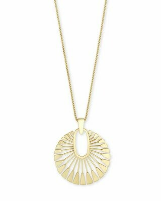 Kendra Scott Deanne Long Pendant Necklace In Gold
