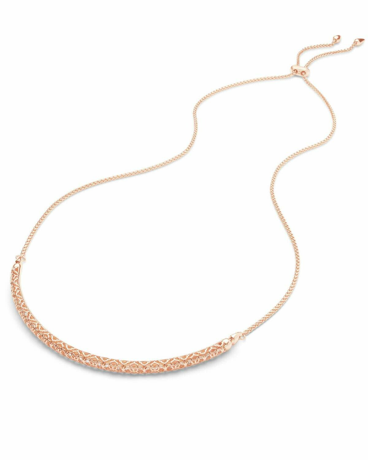 Kendra Scott Goldie Rose Gold Choker Necklace In Rose Gold Filigree