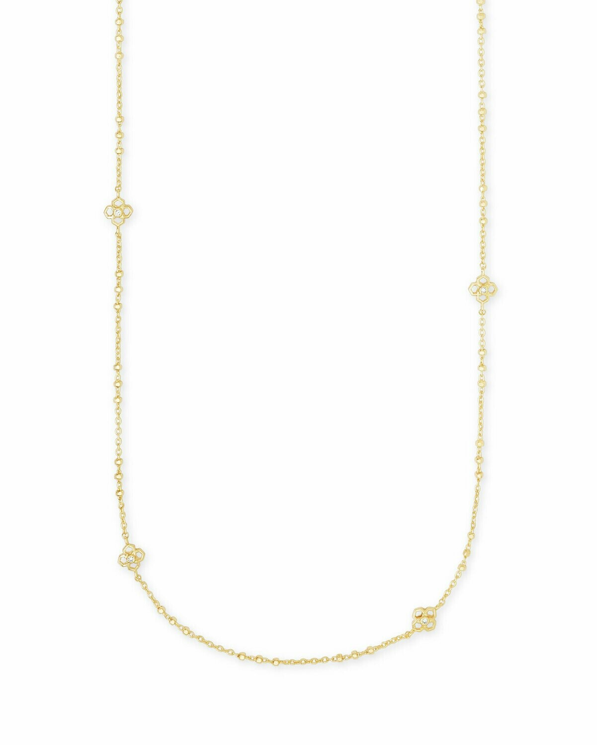 Kendra Scott Rue Long Strand Necklace In Gold