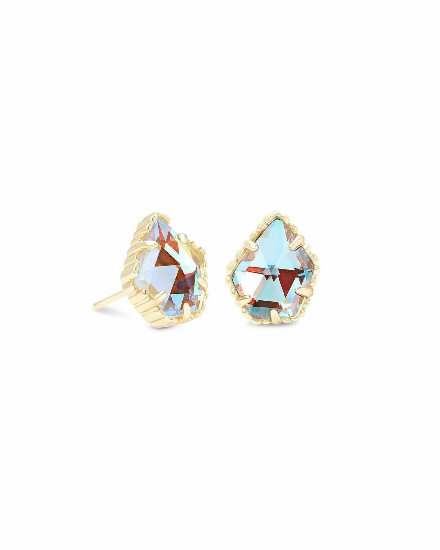 Kendra Scott Tessa Gold Stud Earrings In Dichroic Glass