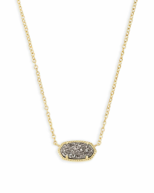 Kendra Scott Elisa Gold Pendant Necklace In Platinum Drusy