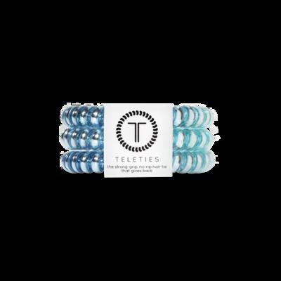 TELETIES Small Hair Ties, Blue Sapphire