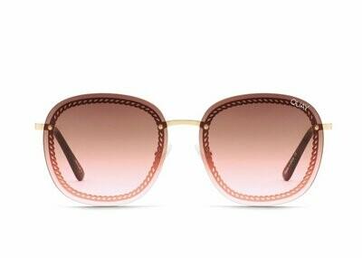 Quay Australia JEZABELL CHAIN, Gold/Brown/Pink