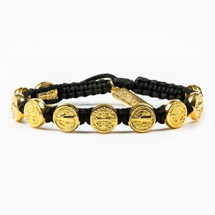 Benedictine Blessing Bracelet (Gold/Black)